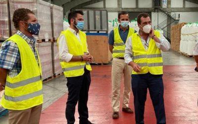El delegado del Estado visita las instalaciones de Bernardino Abad